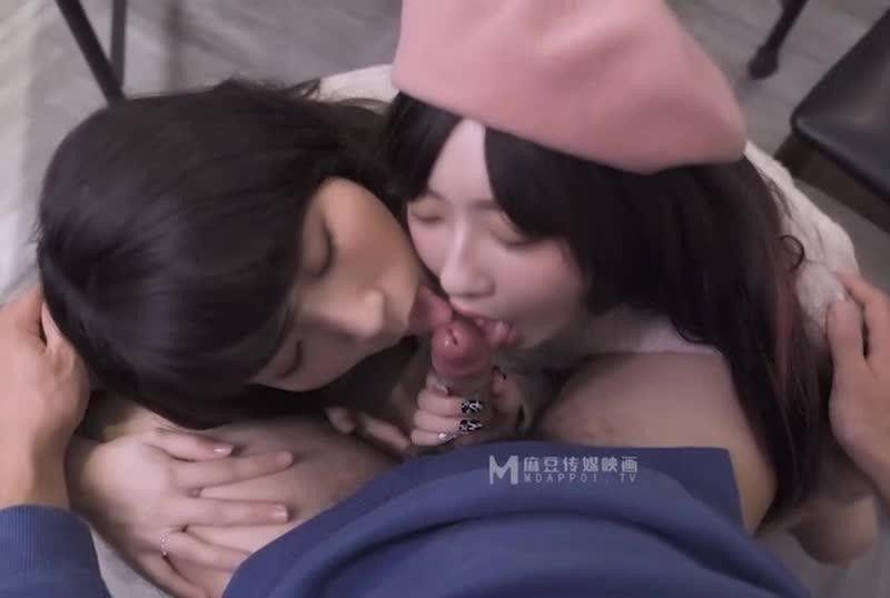 国産AV淫乱3P团圆火锅色欲姐妹与姐夫的三人混战夏晴子 沈娜娜