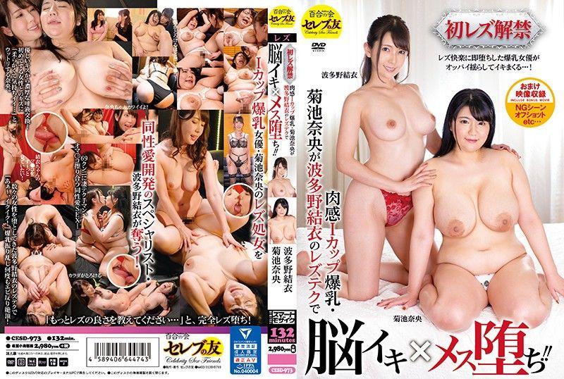 初蕾丝边解禁 肉感I罩杯爆乳・菊池奈央被波多野结衣的高潮淫技搞到高潮堕落!!