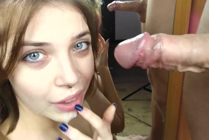 MihaNika69 - ORAL CREMPIE ¦ Slobbery Slow Blowjob Close up