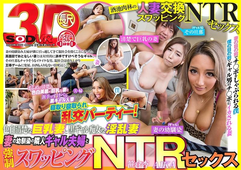 VR 白皙巨乳妻&黝黑痴女妻 邻居夫妇强制换妻幹砲 第四集